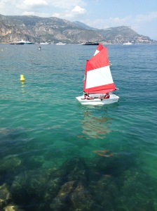 transparent water and my little sailor